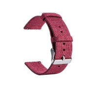 Classic Buckle Canvas Watch Band Replacement for Huami Amazfit Watch Youth Edition - Rose
