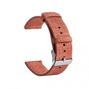 Classic Buckle Canvas Wristwatch Band for Huami Amazfit Watch Youth Edition - Orange
