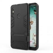 Υβριδική Θήκη Σιλικόνης TPU σε Συνδυαμό με Πλαστικό και με Βάση Στήριξης για Xiaomi Mi A2 Lite / Redmi 6 Pro - Μαύρο