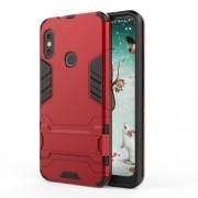 Υβριδική Θήκη Σιλικόνης TPU σε Συνδυαμό με Πλαστικό και με Βάση Στήριξης για Xiaomi Mi A2 Lite / Redmi 6 Pro - Κόκκινο