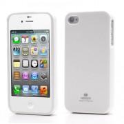 Mercury GOOSPERY Shimmering Powder Θήκη Σιλικόνης TPU για iPhone 4 4S - Λευκό