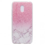 For Meizu M6 Soft TPU Ultra Patterned Ultra-thin Phone Case - Pink Marble