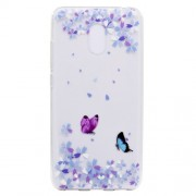 For Meizu M6 Soft TPU Ultra Patterned Ultra-thin Phone Cover - Two Butterflies