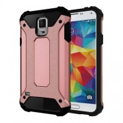 Armor PC TPU Phone Case for Samsung Galaxy S5 G900 - Rose Gold