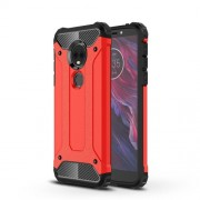 Armor Guard Plastic + TPU Combo Case for Motorola Moto E5 Play - Red