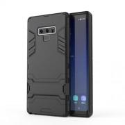 Υβριδική Θήκη Σιλικόνης TPU σε Συνδυαμό με Πλαστικό και με Βάση Στήριξης για Samsung Galaxy Note 9 - Μαύρο