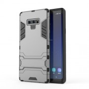 Cool Guard Plastic + TPU Hybrid Phone Shell with Kickstand for Samsung Galaxy Note 9 - Grey