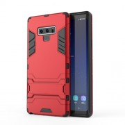 Cool Guard Kickstand Plastic + TPU Hybrid Mobile Case Cover for Samsung Galaxy Note 9 - Red