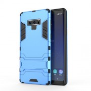 Cool Guard Plastic + TPU Combo Protective Phone Case with Kickstand for Samsung Galaxy Note 9 - Baby Blue