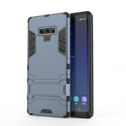 Cool Guard Plastic + TPU Hybrid Case Accessory with Kickstand for Samsung Galaxy Note 9 - Dark Blue