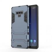 Υβριδική Θήκη Σιλικόνης TPU σε Συνδυαμό με Πλαστικό και με Βάση Στήριξης για Samsung Galaxy Note 9 - Σκούρο Μπλε