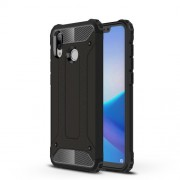 Armor Guard Plastic + TPU Hybrid Protector Case for Huawei Honor Play - Black