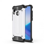 Armor Guard Plastic + TPU Hybrid Protector Cover for Huawei Honor Play - White