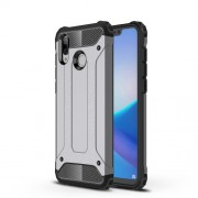 Armor Guard Plastic + TPU Hybrid Cellphone Cover Case for Huawei Honor Play - Grey