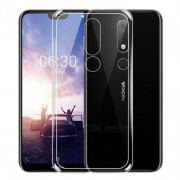 Clear Soft TPU Gel Case with Non-slip Inner for Nokia 6.1 Plus / X6