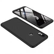 GKK 360 μοιρών Σκληρή Θήκη Ματ με Βελούδινη Υφή Πρόσοψης και Πλάτης για Xiaomi Redmi S2 / Redmi Y2 - Μαύρο