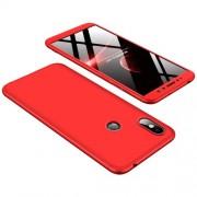 GKK 360 μοιρών Σκληρή Θήκη Ματ με Βελούδινη Υφή Πρόσοψης και Πλάτης για Xiaomi Redmi S2 / Redmi Y2 - Κόκκινο