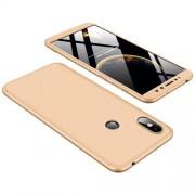 GKK 360 μοιρών Σκληρή Θήκη Ματ με Βελούδινη Υφή Πρόσοψης και Πλάτης για Xiaomi Redmi S2 / Redmi Y2 - Χρυσαφί