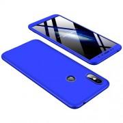 GKK 360 μοιρών Σκληρή Θήκη Ματ με Βελούδινη Υφή Πρόσοψης και Πλάτης για Xiaomi Redmi S2 / Redmi Y2 - Μπλε