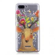 Θήκη Σιλικόνης TPU για Xiaomi Redmi 6 - Ελάφι με Λουλούδια