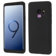 2-in-1 Full Protection PC Hard Case for Samsung Galaxy S9 G960 + Tempered Glass Screen Protector - Black