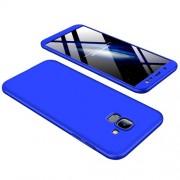 GKK 360 μοιρών Σκληρή Θήκη Ματ με Βελούδινη Υφή Πρόσοψης και Πλάτης για Samsung Galaxy J6 (2018) - Μπλε