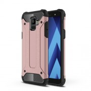 Armor Guard Plastic + TPU Hybrid Protective Case for Samsung Galaxy A6 (2018) - Rose Gold