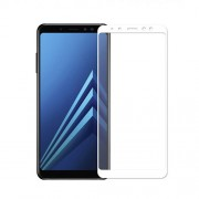 Silk Printing Full Coverage Tempered Glass Screen Protector Film for Samsung Galaxy A8 (2018) - White