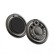 KINGXBAR Authorized Swarovski Crystal Decor Rotary Finger Ring Phone Tablet Holder for iPhone Samsung Huawei etc. - Black