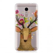 Pattern Printing TPU Back Case for Xiaomi Redmi Note 5 (12MP Rear Camera) / Redmi 5 Plus (China) - Deer with Flowers