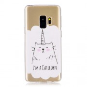 Patterned TPU Back Cover Shell for Samsung Galaxy S9 G960 - Cartoon Cat