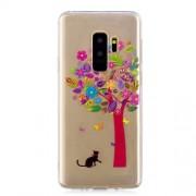 Θήκη Σιλικόνης TPU για Samsung Galaxy S9 Plus SM-G95 - Δέντρο και Γατούλα