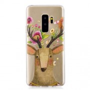 Pattern Printing IMD TPU Cover for Samsung Galaxy S9 Plus SM-G95 - Flowered Elk