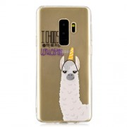 Patterned IMD TPU Cell Phone Case for Samsung Galaxy S9 Plus SM-G965 - Alpaca, I Choose to Be a Unicorn