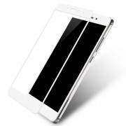 Silk Print Arc Edge Full Size Tempered Glass Screen Protector Film for Xiaomi Redmi Note 4 - White