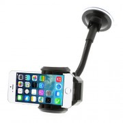 2 in 1 Universal Car Mount Suction Holder Stand + Car Kit Air Vent Mount Holder for iPhone 5c 5s 5 Samsung I9500 I9200, Width: 4