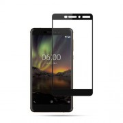 MOCOLO Silk Print Full Size Tempered Glass Screen Protector for Nokia 6 (2018) - Black
