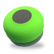 Mini Suction Cup Waterproof Shower Bluetooth Speaker with Microphone for iPhone 7/7 Plus etc. - Green
