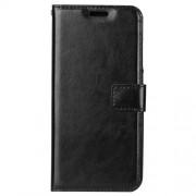 Δερμάτινη Θήκη Πορτοφόλι με Βάση Στήριξης για Xiaomi Mi 8 - Μαύρο