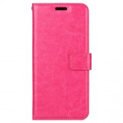 Crazy Horse Texture Wallet Stand Leather Phone Cover Case for Xiaomi Mi 8 (6.21-inch) - Rose