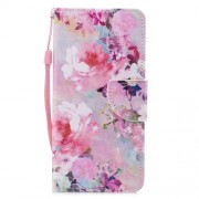 Pattern Printing PU Leather Mobile Cover with Card Slots for Xiaomi Mi 6X / Mi A2 - Vivid Flowers