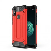 Armor Guard Plastic + TPU Hybrid Cell Phone Cover for Xiaomi Mi 6X - Red
