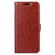 Crazy Horse Texture Wallet Stand Leather Case Accessory for Xiaomi Mi 6X / Mi A2 - Brown