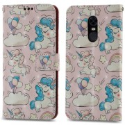 3D Patterned Wallet Leather Phone Case for Xiaomi Redmi Note 5 (12MP Rear Camera) / Redmi 5 Plus (China) - Shy Unicorns