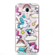 Pattern Printing Soft TPU Phone Cover for Xiaomi Redmi Note 5 (12MP Rear Camera) / Redmi 5 Plus (China) - Unicorns
