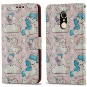 3D Pattern Printing Wallet Stand Leather Mobile Case for Xiaomi Redmi 5 - Shy Unicorns