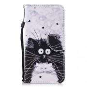 Δερμάτινη Θήκη Πορτοφόλι με Βάση Στήριξης για Xiaomi Redmi 5 - Μαύρη και Λευκή Γάτα