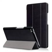 Δερμάτινη Θήκη Βιβλίο Tri-Fold με Βάση Στήριξης για Lenovo Tab 4 8 TB-8504F - Μαύρο