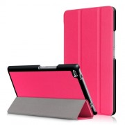 For Lenovo Tab4 8 TB-8504F/N Tri-fold Stand Flip Leather Shell - Rose