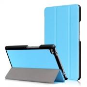 Δερμάτινη Θήκη Βιβλίο Tri-Fold με Βάση Στήριξης για Lenovo Tab 4 8 TB-8504F - Γαλάζιο